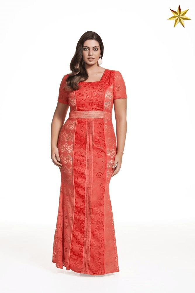 Vestido Plisse Estampado Fasciniu's 9916 Alto Verão 2017