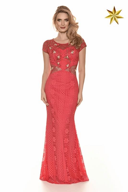 Vestido Lace Stripe Fasciniu's 9882 Alto Verão 2017