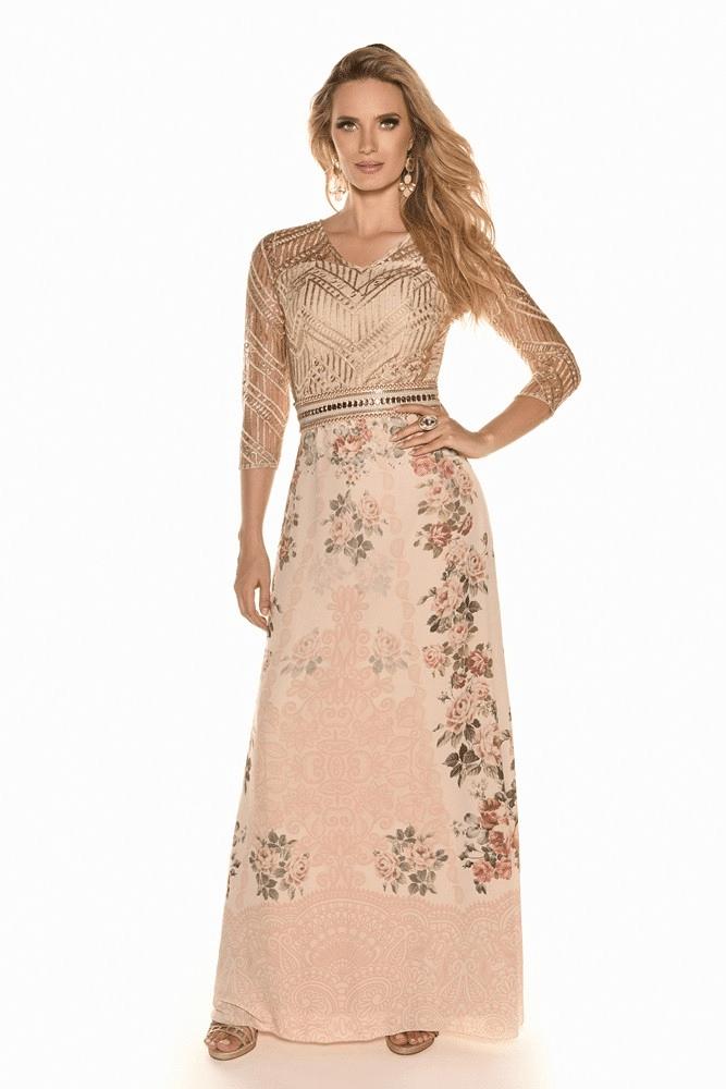 Vestido Fasciniu's Renda Gold 9861