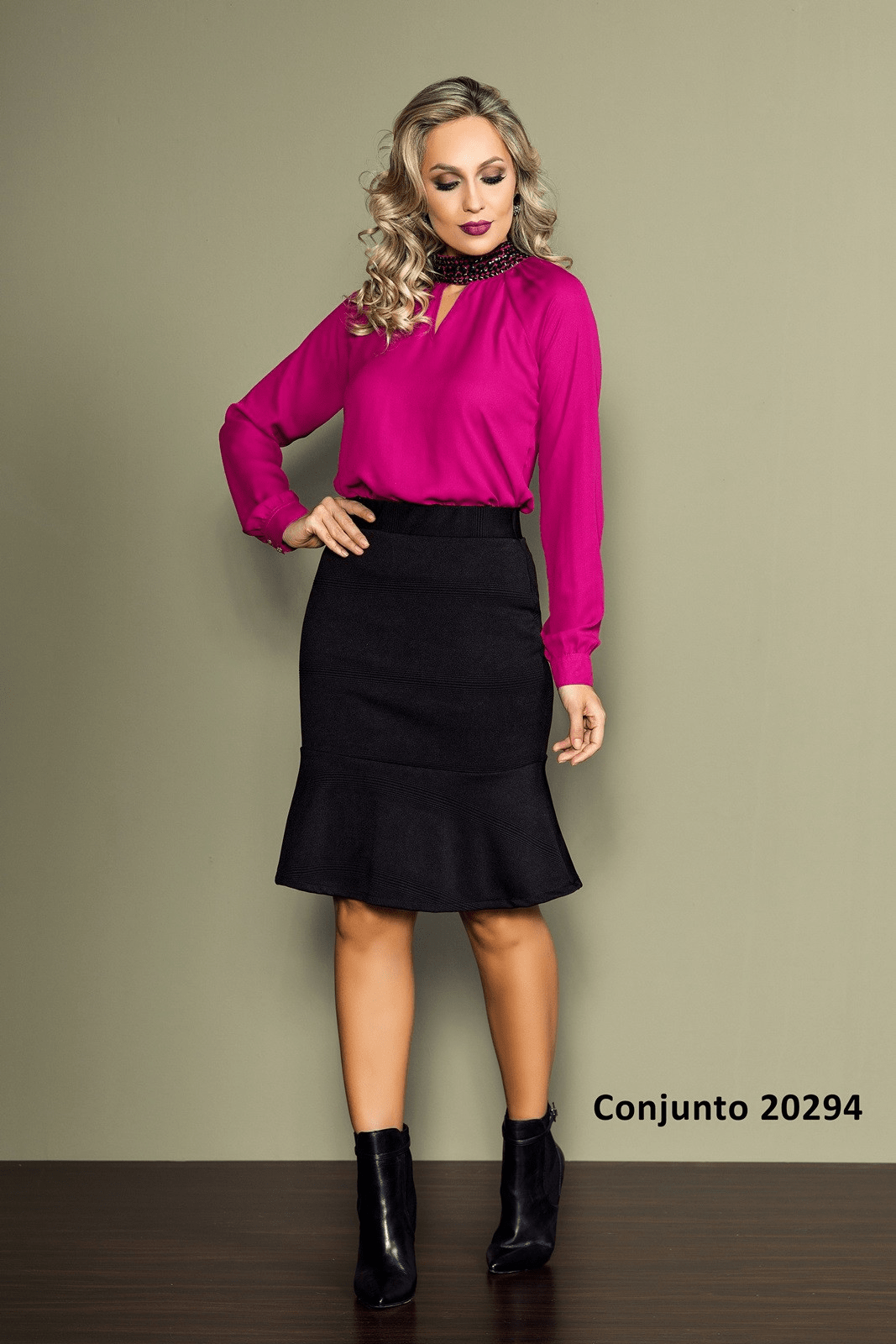 Conjunto Rettroz Gola Bordada 20294