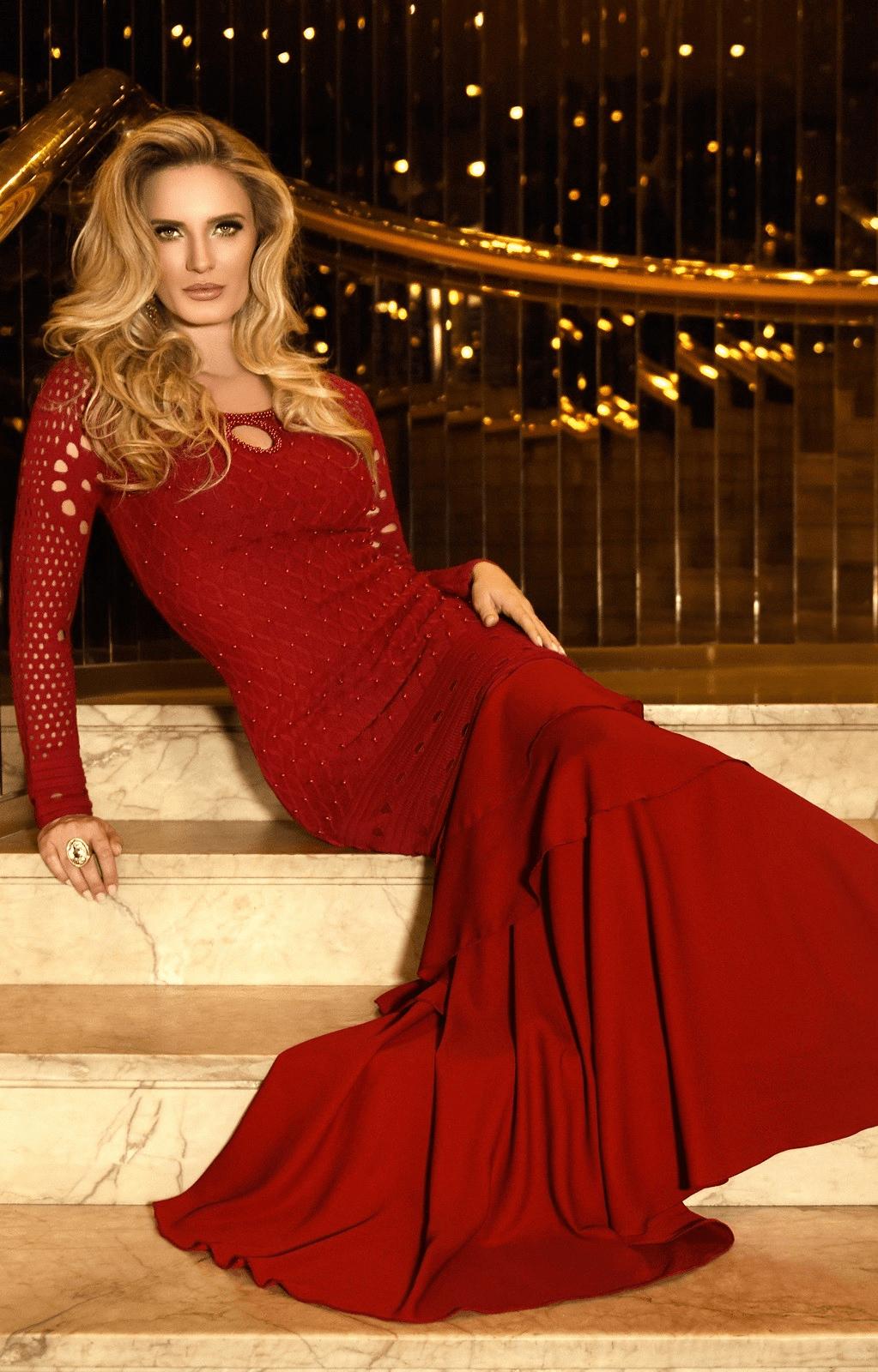 Vestido Fasciniu's Longo Crochê 10586
