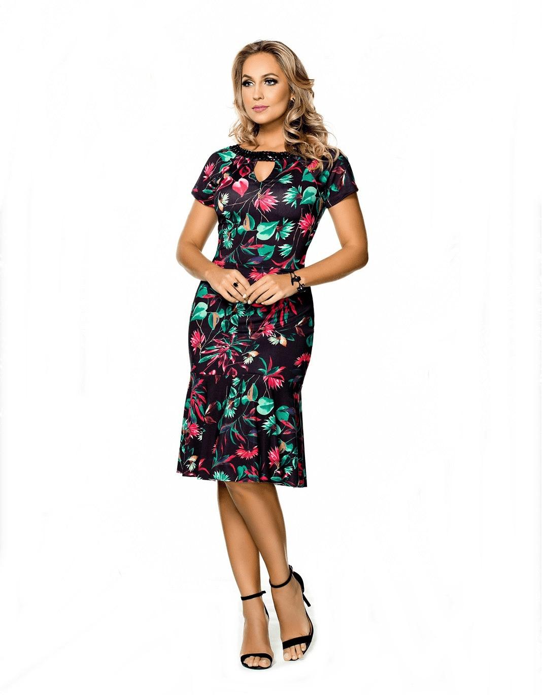 Vestido Clara Rosa Flor Oriental