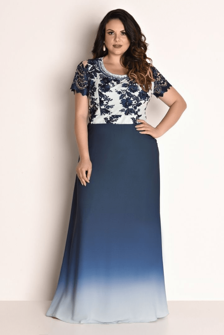 9b43517b6 Esse vestido é tudo de mais lindo! Os detalhes em renda na parte superior  são sofisticados e a saia com detalhe tye-dye na barra complementa a  produção que ...
